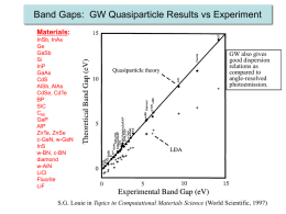 Band Gaps: GW Quasiparticle Results vs Experiment