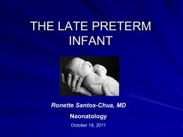 The Late Preterm Infant