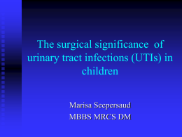 Surgical Aspects of Urinary Tract Infections