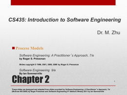 Chapter 2: Process Models