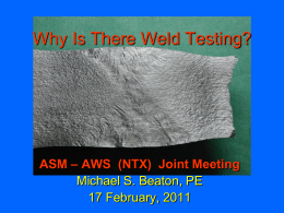 Why Is There Weld Testing? - Trinity Metals Laboratory