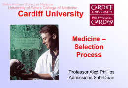 Our Selection Process - School of Medicine