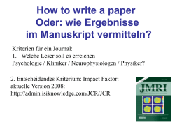 How to write a paper -