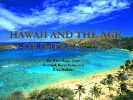 Hawaii The Age of Imperialism
