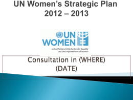 UN Women`s Strategic Plan 2011 - 2013 - ESCR-Net