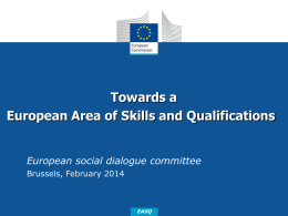 Towards a European Area of Skills and Qualifications