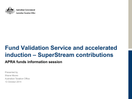 Fund Validation Service - Software developers homepage