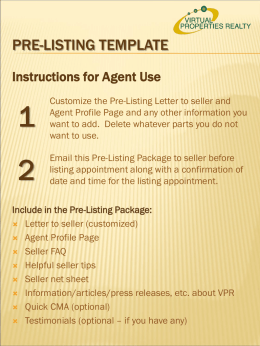 Pre-listing template - Virtual Properties Realty