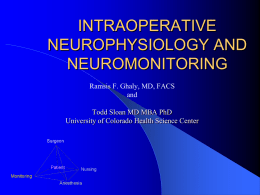 intraoperative neurophysiology and neuromonitoring