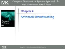 Chapter 4: Advanced Internetworking
