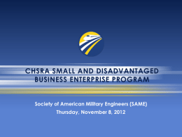 sb/dbe program components - The Society of American Military
