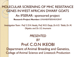 PRESENTED BY Prof. c.o.n. ikeobi