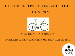 Cycling interventions and cost - effectiveness