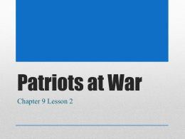 Patriots at War