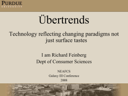 Ubertrend 1- The Digital Lifestyle