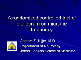 A randomized controlled trial of citalopram on migraine