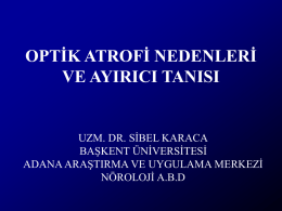 OPTIK ATROFILER VE AYIRICI TANI