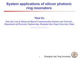 Optical differentiation - Silicon Photonics and Microsystems Lab