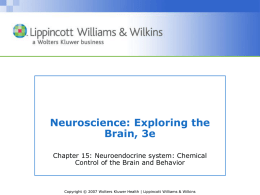 Chapter 15: Chemical Control of the Brain and Behavior