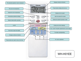 WH-H01EE Infra Red Remote Controller Simple Guide