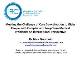 Meeting the challenge of Care Coordination to