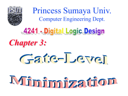 Gate-Level Minimization - Princess Sumaya University for Technology