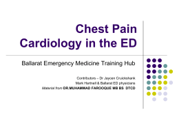 Chest pain in the ED - BHS Education Resource