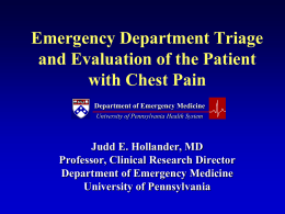 Emergency Department Triage and Evaluation of the Patient with