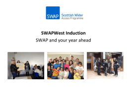Preparing Adults for Higher Education SWAPWest Access to