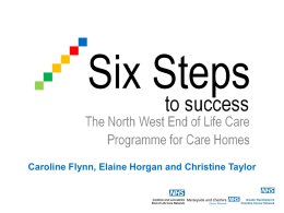 Six Steps to Success presentation