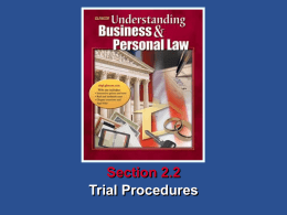 Section 2.2 Assessment Understanding Business and Personal Law