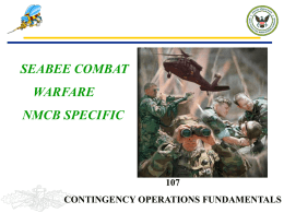 PPT: NMCB 107 Contingency Operations 2