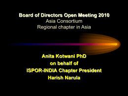 Anita Kotwani PhD on behalf of ISPOR