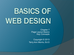 Basics of Web Design: Chapter 7