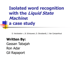 Isolated word recognition with the Liquid State Machine: a case study