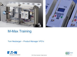 M-Max Application Training