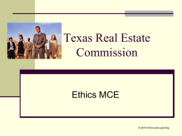 Keeping Current with Texas Real Estate MCE, 2014–2015