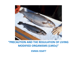 precaution and the regulation of living modified organisms