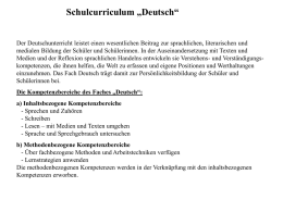 Schulcurriculum Deutsch PPT MS Power Point