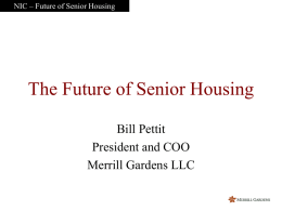 future of senior housing ppt