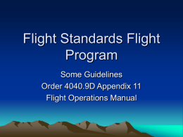 Flight Program