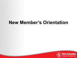 2013-New-Member-Orientation - The Kinette Club of Medicine Hat