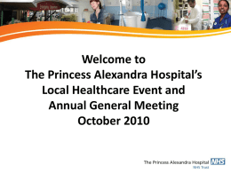 NHS Trust - The Princess Alexandra Hospital