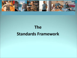 "Standards Framework"" as a minimum competency requirement"