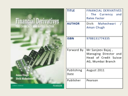 Financial Derivatives - The Institute of Chartered Accountants of India