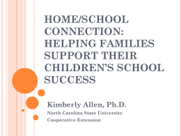 Home/school connection: Helping Families support their children`s