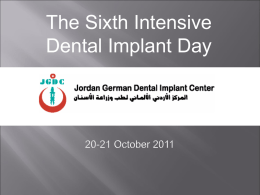 Presentation - Jordan German Dental Implant Center