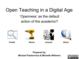 Open Teaching in a Digital Age