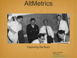 Altmetrics - Libraries & Publishing