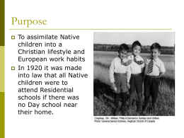 Residential Schools - East Northumberland Secondary School